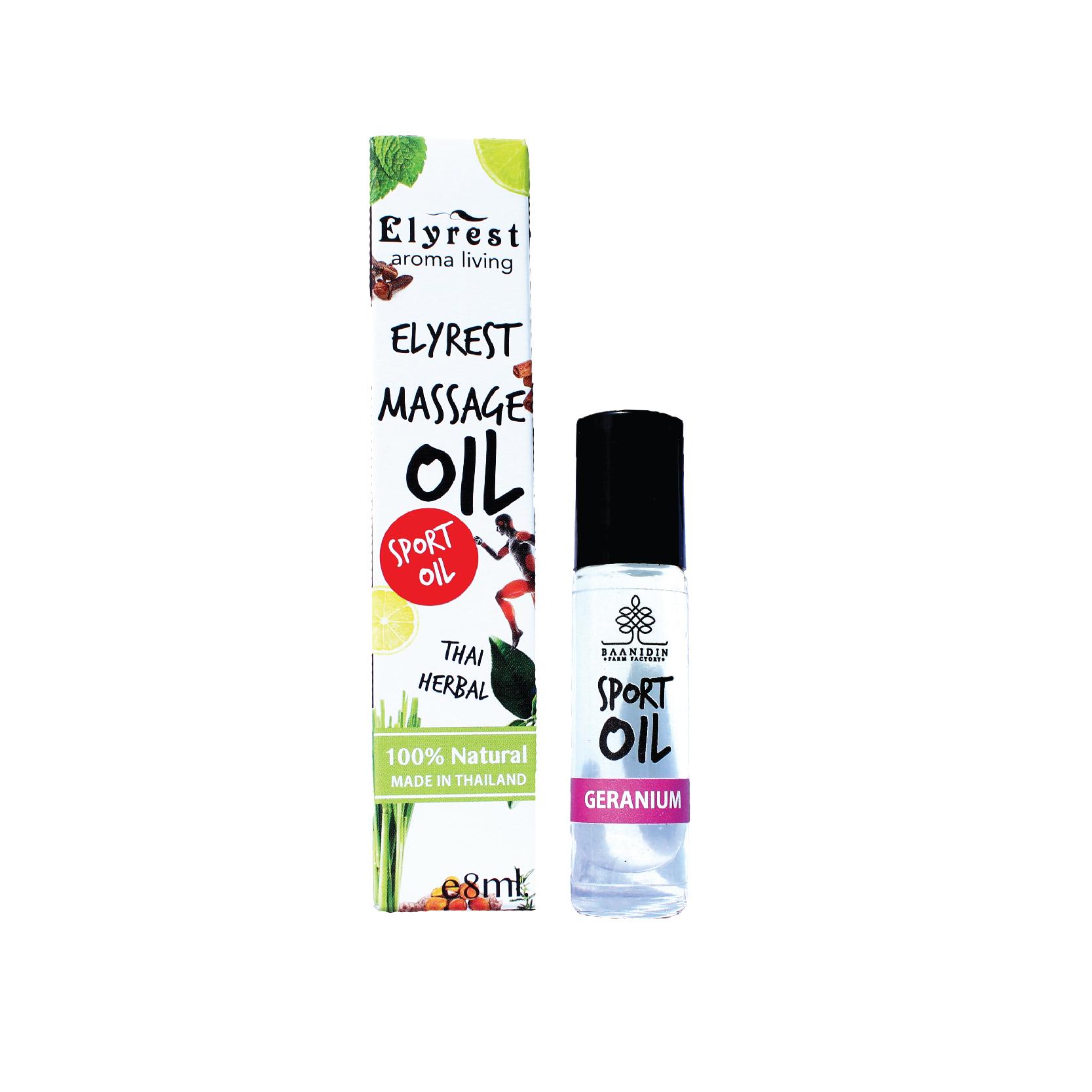 Elyrest by baanidin Herbal oil Geranium