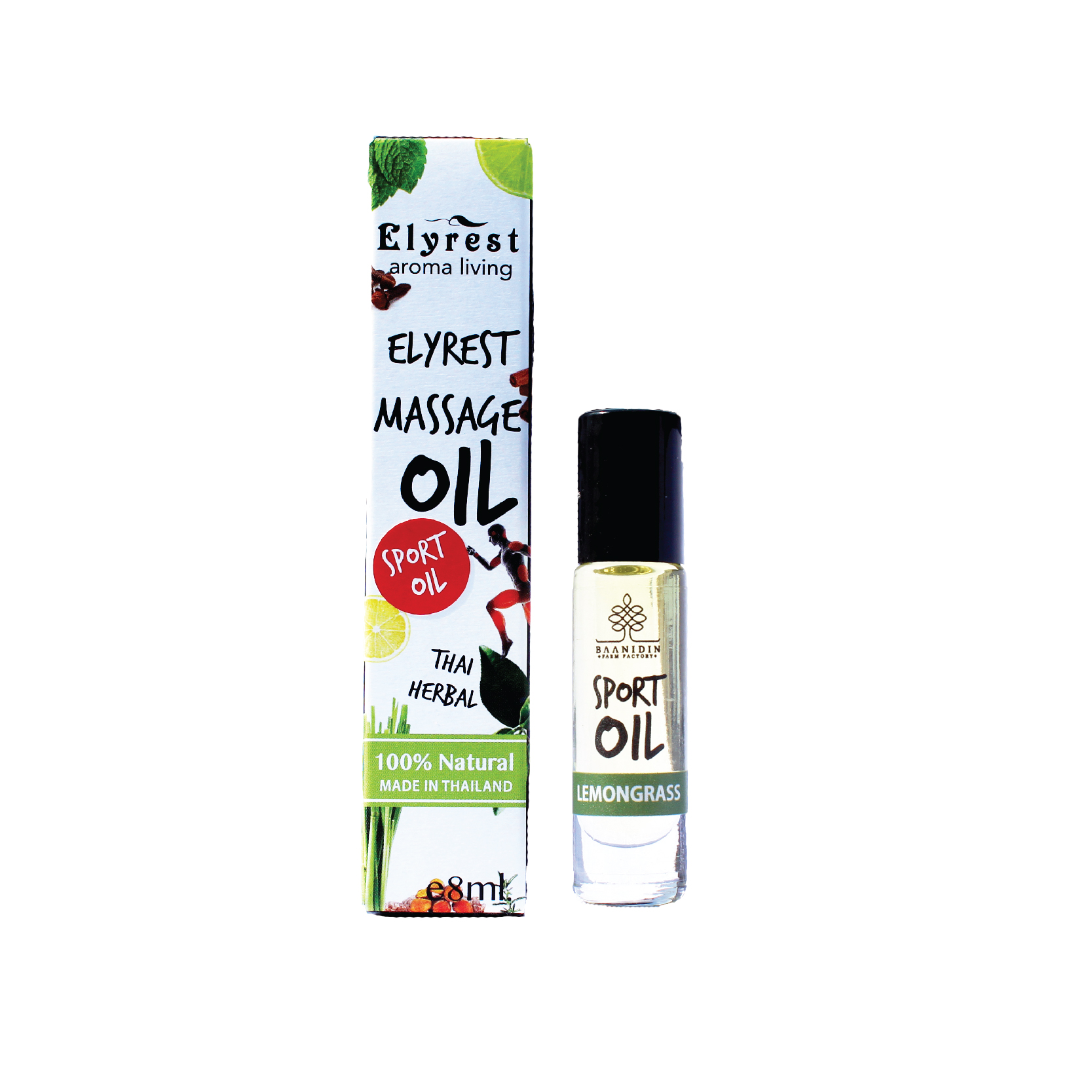 Elyrest by baanidin Herbal oil lemongrass